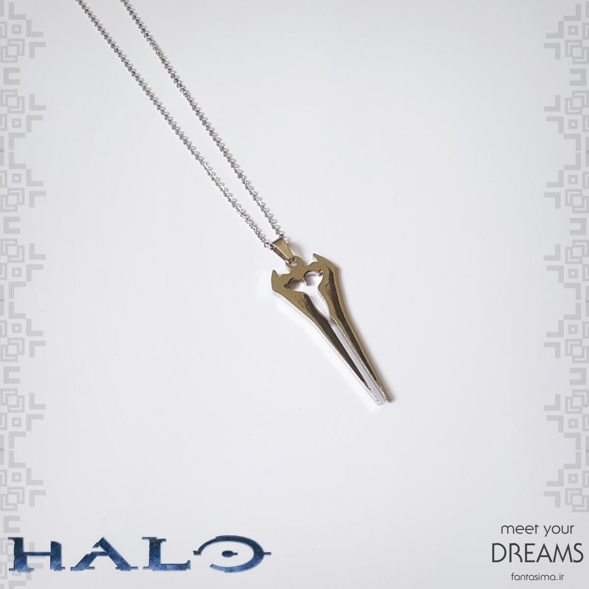 گردنبند استیل شمشیر انرژی هیلو