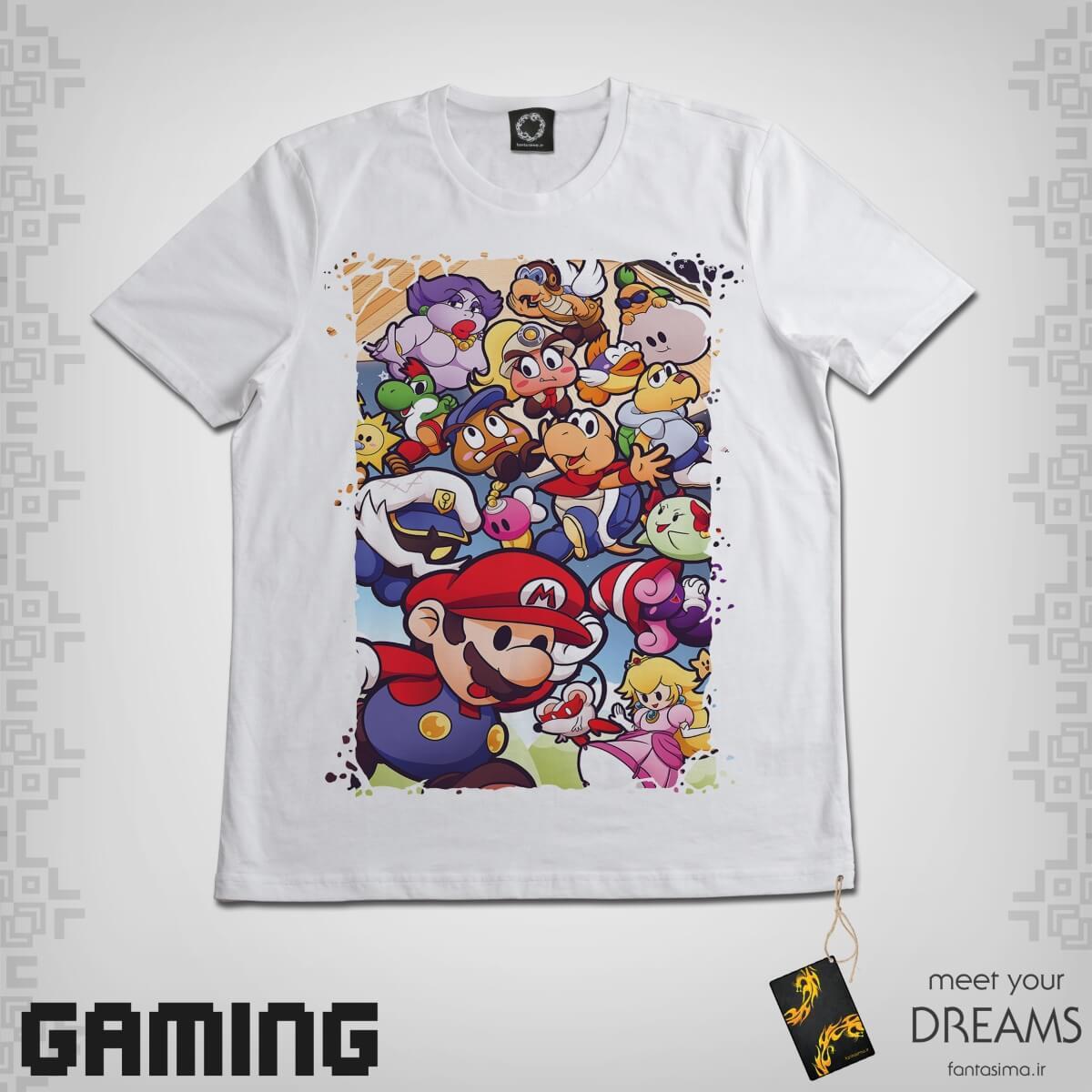 تیشرت کارتونی شخصیت های ماریو