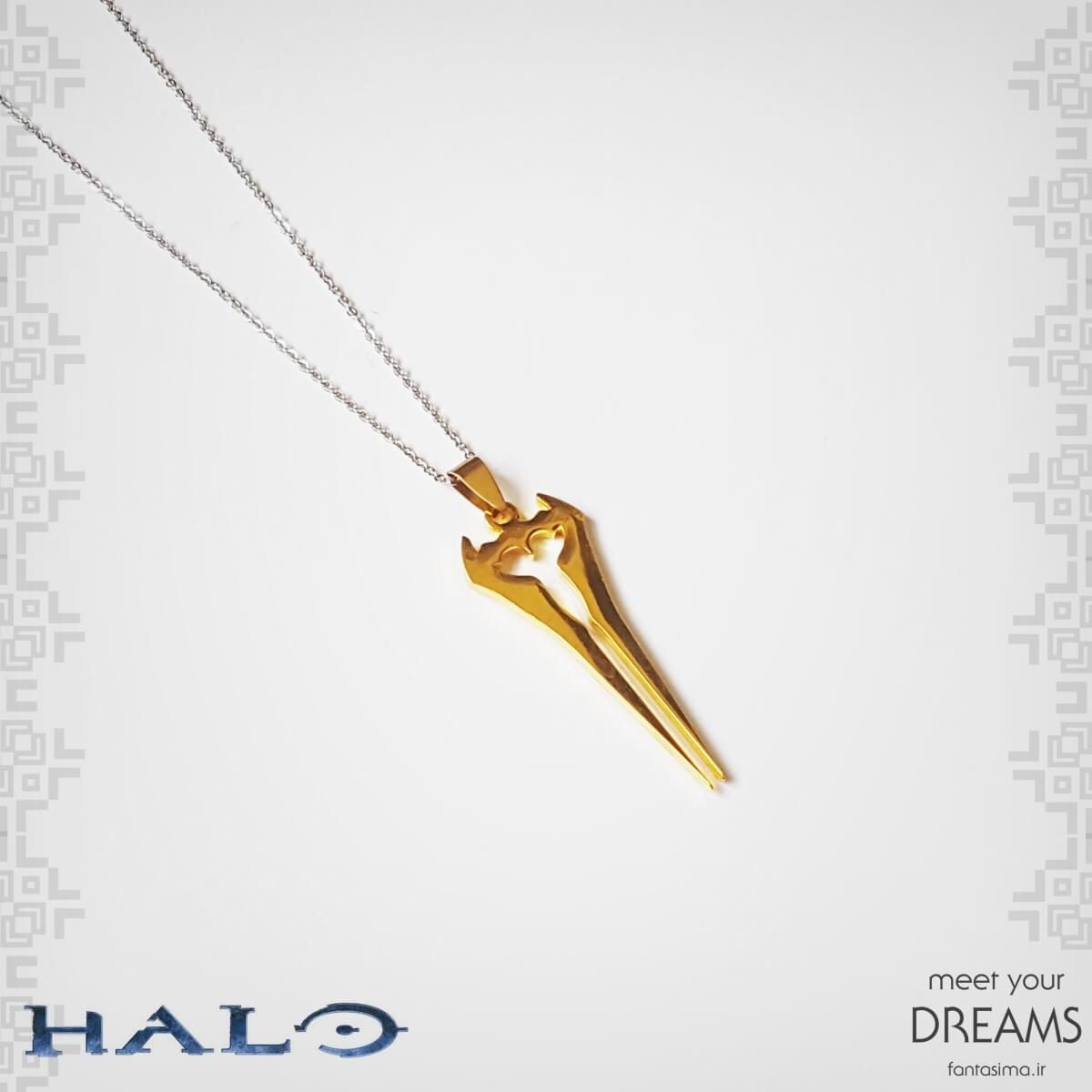 گردنبند شمشیر انرژی هیلو- طلایی