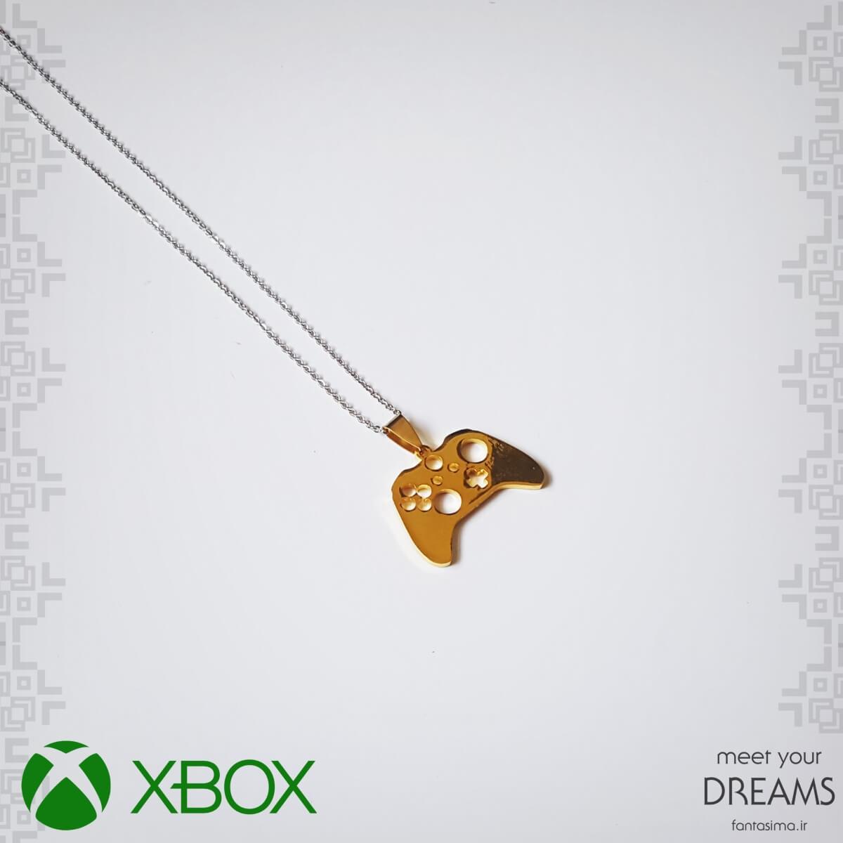 گردنبند نماد کنترلر ایکس باکس وان - طلایی