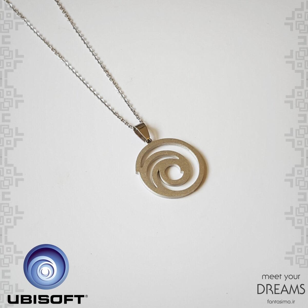 گردنبند استیل نماد یوبی سافت  - مات