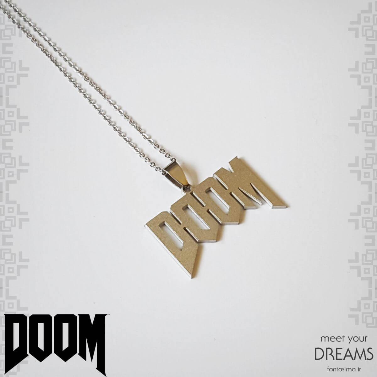 گردنبند استیل دووم (doom) - مات