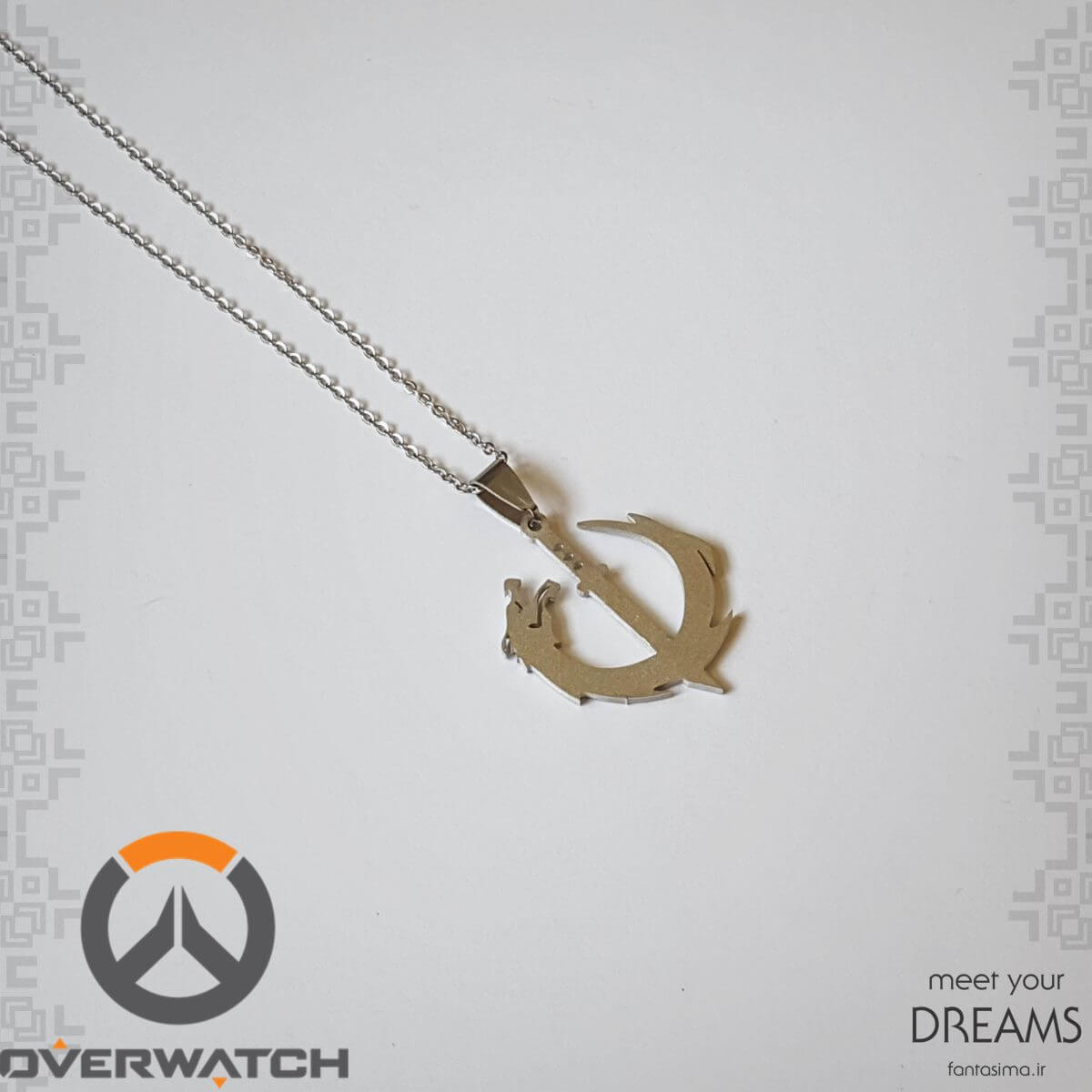 گردنبند استیل نماد گنجی-اورواچ - مات
