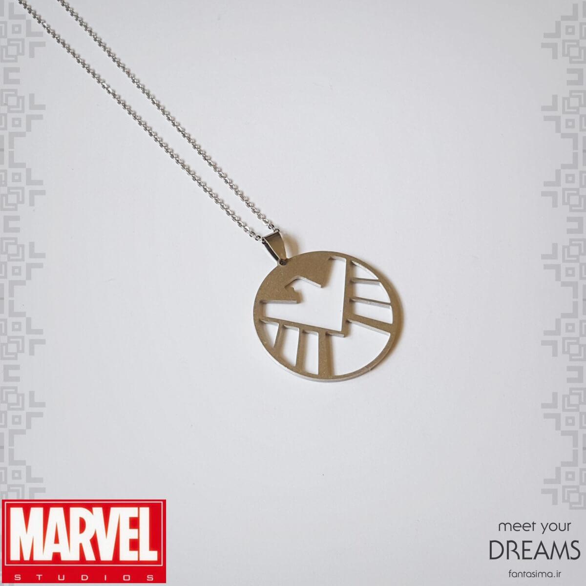 گردنبند استیل نماد شیلد - مات