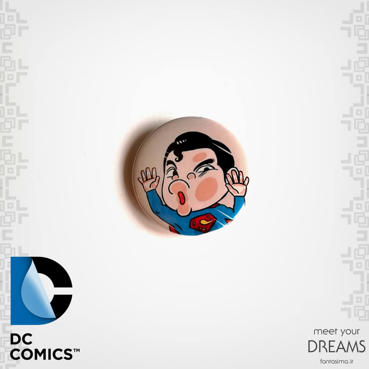 پیکسل فلزی کارتونی سوپرمن