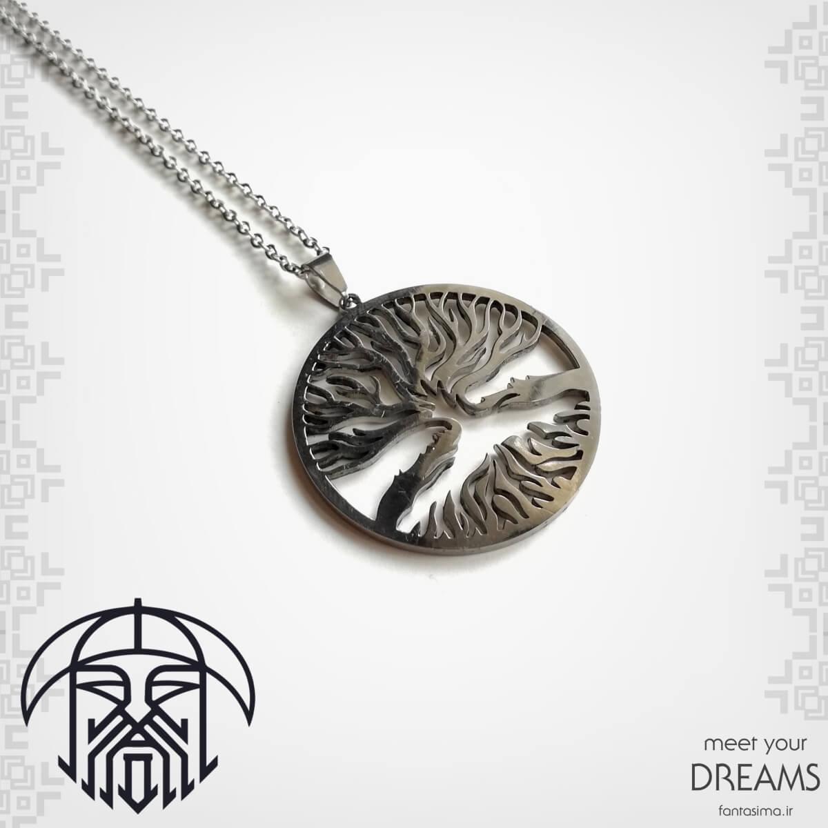 گردنبند استیل درخت زندگی