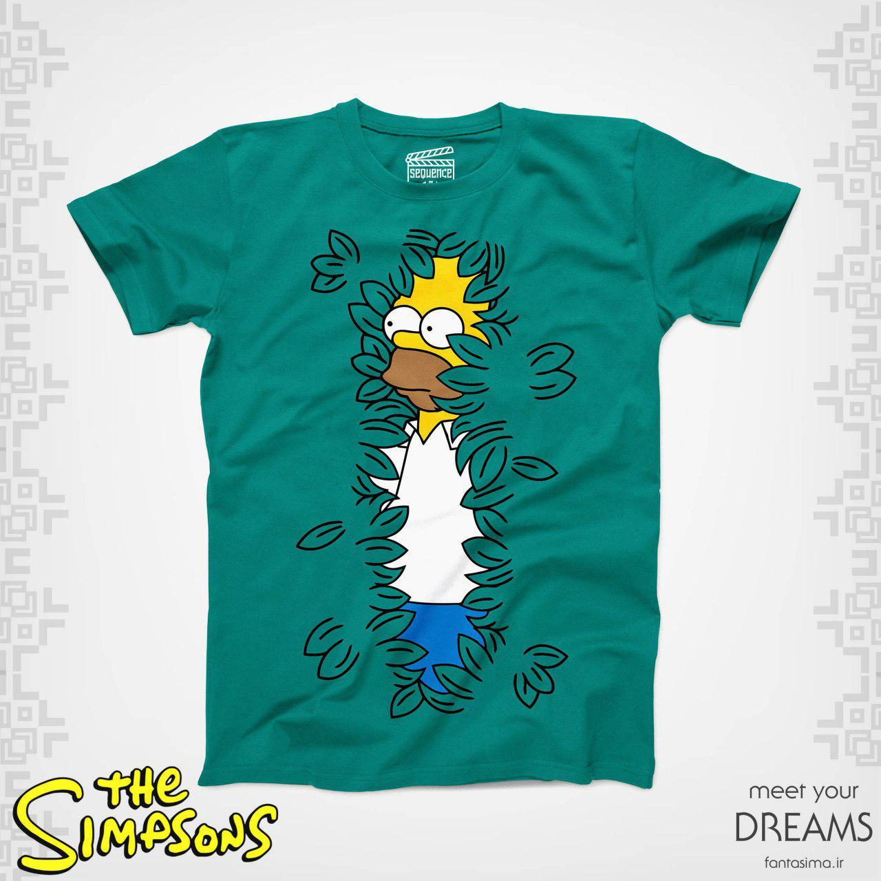 تیشرت سبز هومر سیمپسون