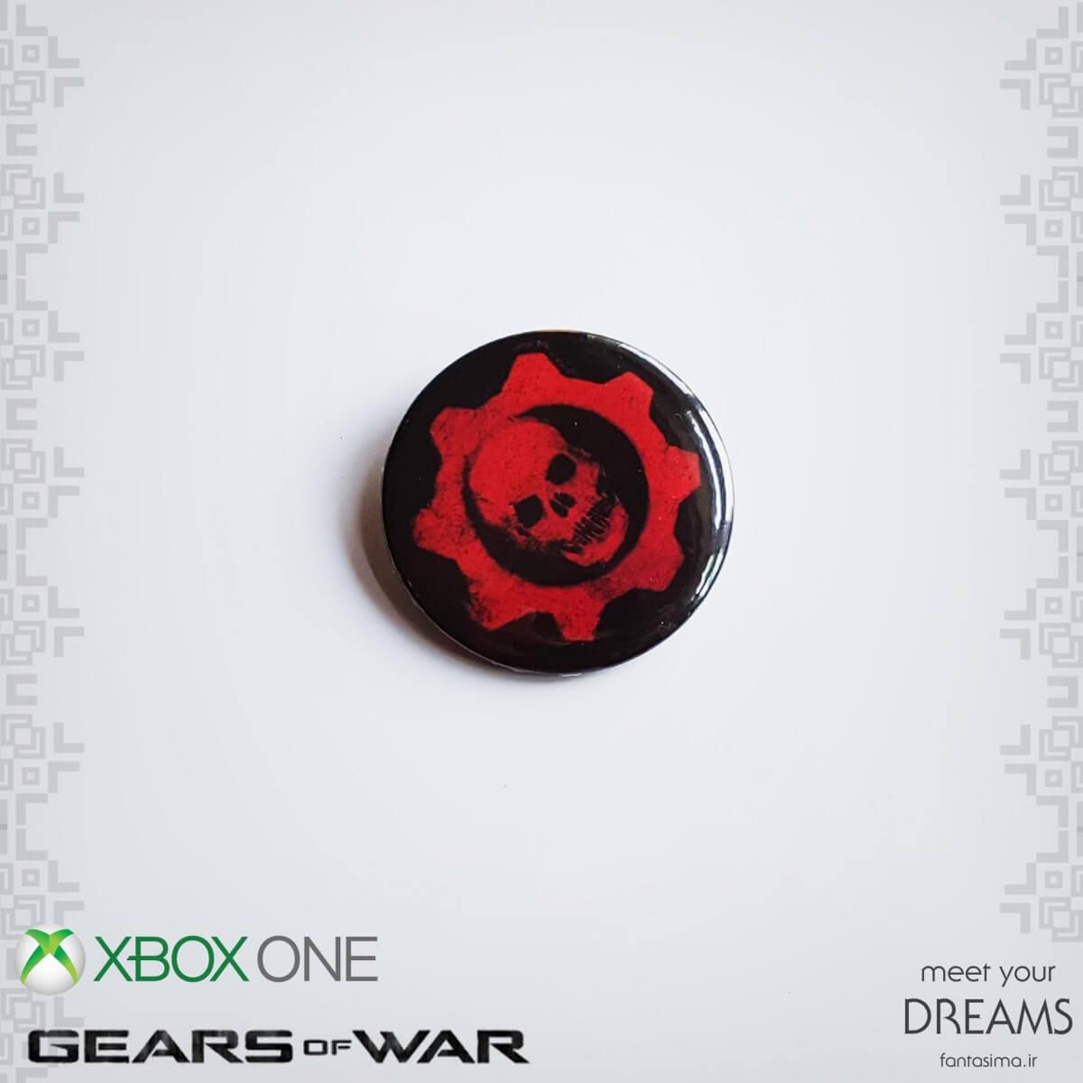 پیکسل فلزی نماد gears of war