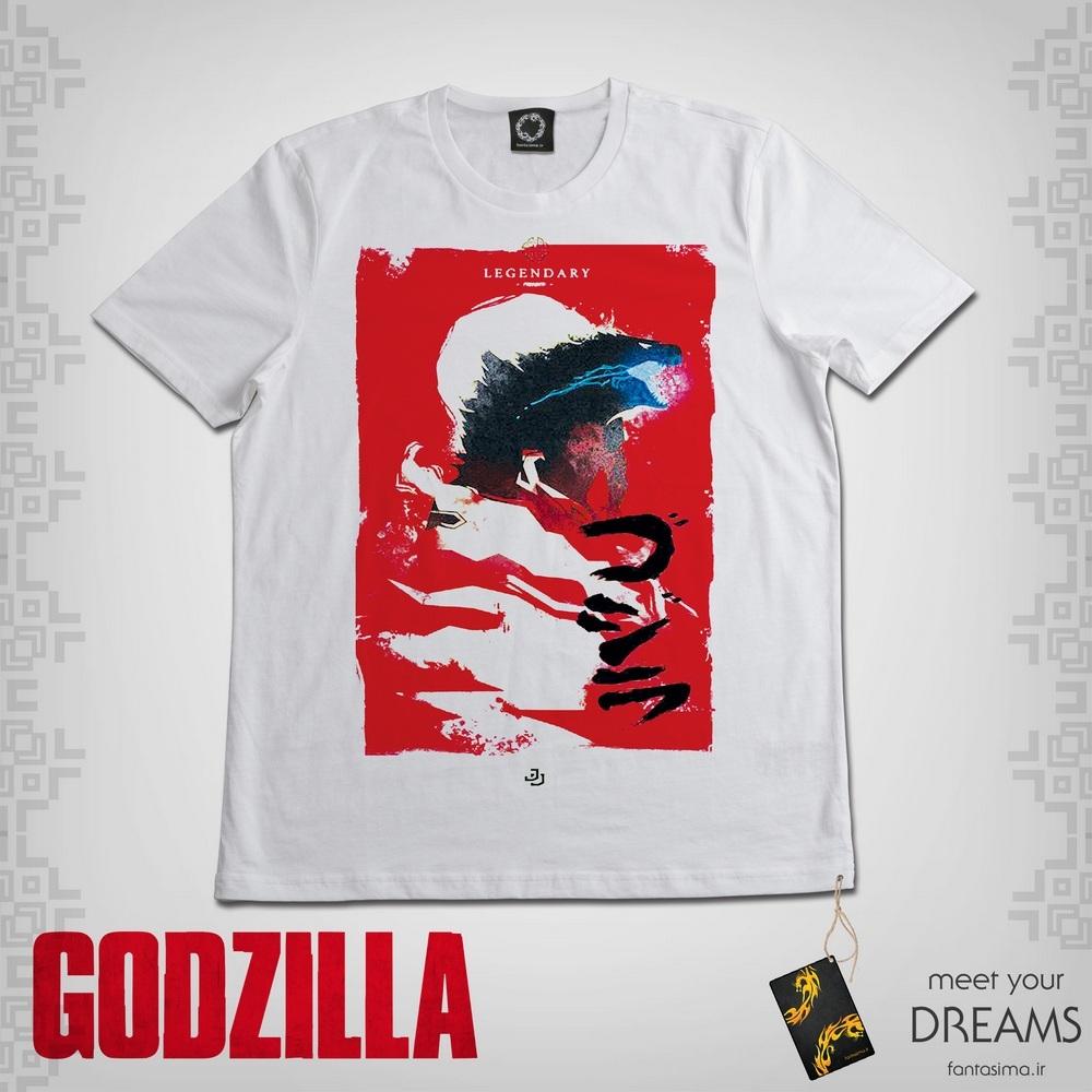 تیشرت پوستر ژاپنی گودزیلا