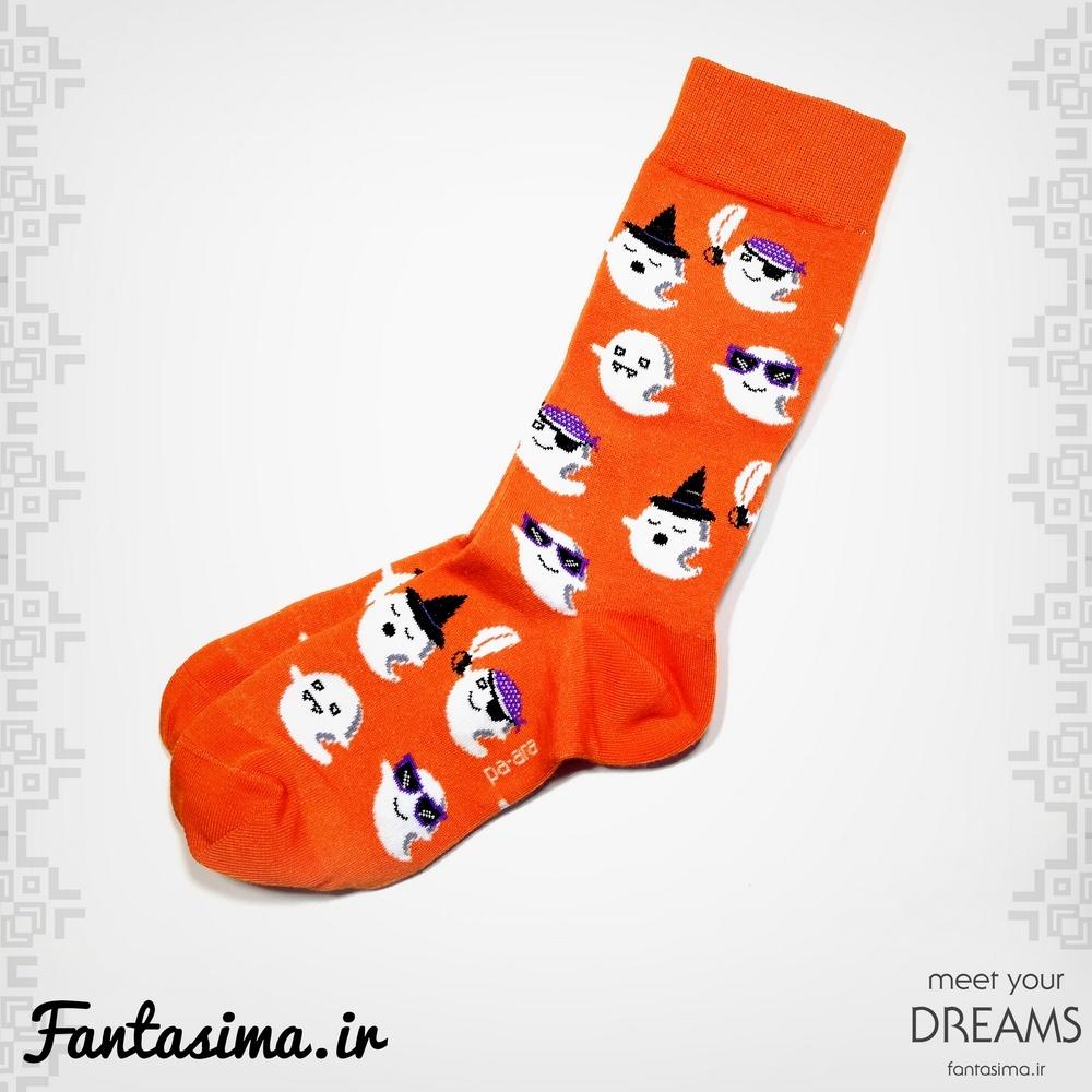 جوراب نارنجی هالوین