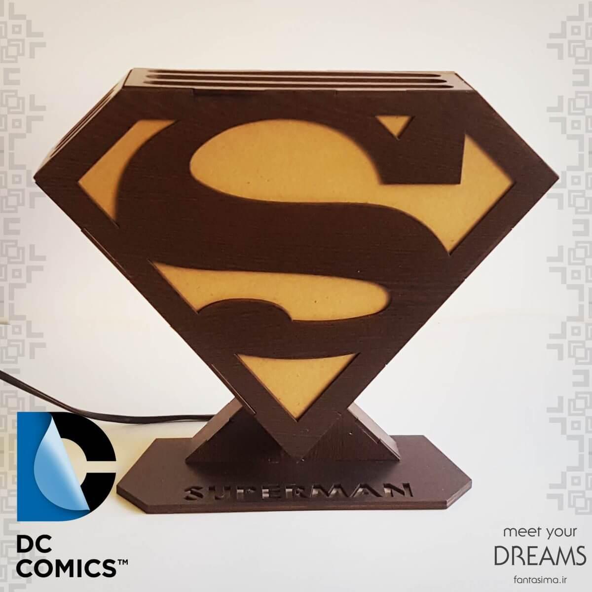 فانتزیآرت چراغ خواب نماد سوپرمن