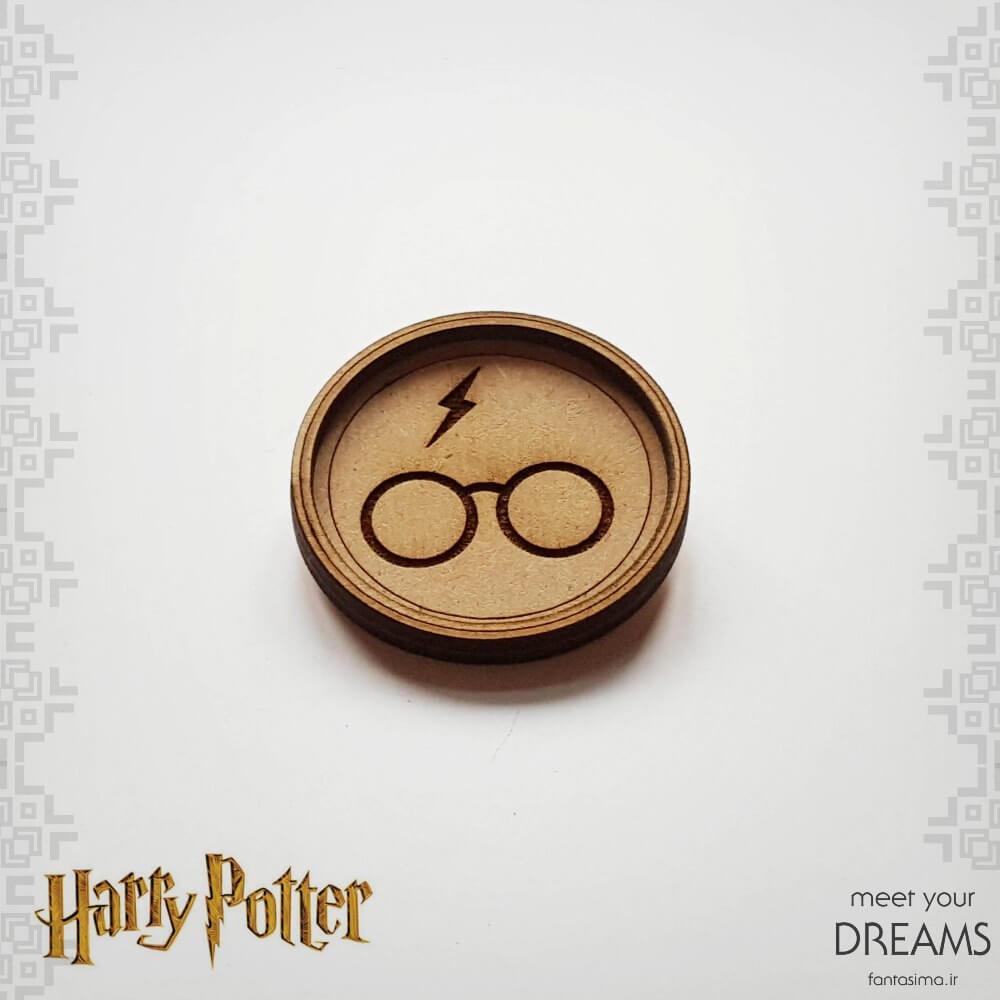 پیکسل چوبی عینک هری پاتر